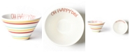 Coton Colors Happy Everything by Laura Johnson Collection Multi Bright Stripe Oh Happy Day Mod Small Bowl