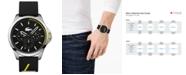 Lacoste Men's Capbreton Black Silicone Strap Watch 46mm