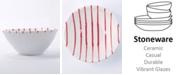 VIETRI Net & Stripe Red Stripe Cereal Bowl