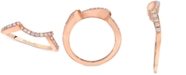 Le Vian Diamond Curve Band (1/6 ct. t.w.) in 14k Rose Gold