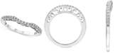 Le Vian Diamond Curved Band (1/5 ct. t.w) in 14k White Gold