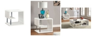 Furniture of America Lazer White End Table