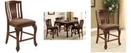 Furniture of America Jamis Brown Cherry Counter Stool (Set of 2)