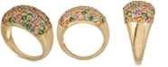 Macy's Multi-Gemstone Pavé Statement Ring (2-1/2 ct. t.w.) in 14k Gold-Plated Sterling Silver