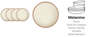 Q Squared Potter Terracotta Melaboo 4-Pc. Salad Plate Set