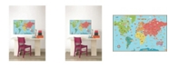 Brewster Home Fashions Kids World Dry Erase Map Decal