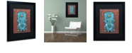 """Trademark Global Craig Snodgrass 'Wee-Bot-Blue' Matted Framed Art, 16"""" x 20"""""""