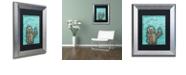 """Trademark Global Craig Snodgrass 'Weebot-Bird' Matted Framed Art, 11"""" x 14"""""""