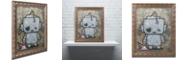 "Trademark Global Craig Snodgrass 'Weebot-Icecream' Ornate Framed Art, 16"" x 20"""