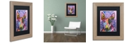 "Trademark Global Dean Russo 'Bull Terrier Luv' Matted Framed Art, 11"" x 14"""