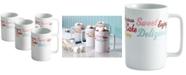 Cake Boss Set of 4 Icing & Quotes Porcelain Mugs