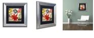 "Trademark Global Color Bakery 'Equinox Ii' Matted Framed Art, 11"" x 11"""