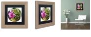 "Trademark Global Color Bakery 'Glassberry Ii' Matted Framed Art, 11"" x 11"""