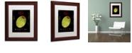 "Trademark Global Color Bakery 'Olive Martini I' Matted Framed Art, 11"" x 14"""