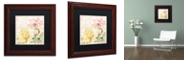 """Trademark Global Color Bakery 'Florabella Iv' Matted Framed Art, 11"""" x 11"""""""
