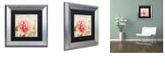 "Trademark Global Color Bakery 'Bonjour One' Matted Framed Art, 11"" x 11"""