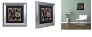 "Trademark Global Color Bakery 'Daisy Cartwheels Ii' Matted Framed Art, 11"" x 11"""