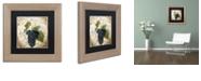 "Trademark Global Color Bakery 'Tuscany Table Noir' Matted Framed Art, 11"" x 11"""
