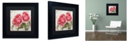 """Trademark Global Color Bakery 'Apricot Peonies I' Matted Framed Art, 11"""" x 11"""""""