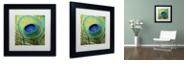 "Trademark Global Color Bakery 'Peacock Candy V' Matted Framed Art, 11"" x 11"""