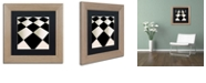 "Trademark Global Color Bakery 'Fifties Patterns V' Matted Framed Art, 11"" x 11"""