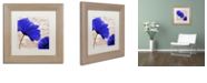 "Trademark Global Color Bakery 'Coquelicots Bleues Ii' Matted Framed Art, 11"" x 11"""