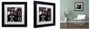 "Trademark Global Color Bakery 'Daring Deco Iv' Matted Framed Art, 11"" x 11"""
