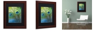"""Trademark Global Color Bakery 'Peacock Candy I' Matted Framed Art, 11"""" x 14"""""""