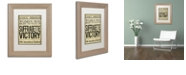 """Trademark Global Color Bakery 'Women's Right To Vote' Matted Framed Art, 11"""" x 14"""""""