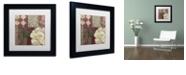 "Trademark Global Color Bakery 'Patch Work Brocade Ii' Matted Framed Art, 11"" x 11"""