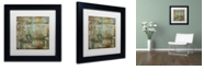 """Trademark Global Color Bakery 'Cities Of The World Iv' Matted Framed Art, 11"""" x 11"""""""