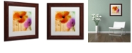 """Trademark Global Color Bakery 'Penchant For Poppies Ii' Matted Framed Art, 11"""" x 11"""""""