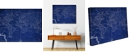 "Creative Gallery World Geography Flat Map 16"" X 20"" Canvas Wall Art Print"