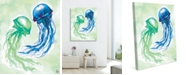 "Creative Gallery Jellyfish Dance 20"" X 24"" Canvas Wall Art Print"