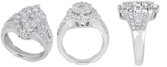 Macy's Diamond Oval Cluster Ring (2 ct. t.w.) in 14k White Gold