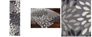 "Surya Cosmopolitan COS-9263 Charcoal 2'6"" x 8' Runner Area Rug"