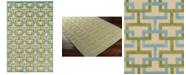 "Surya CLOSEOUT!  Portera PRT-1060 Aqua 5' x 7'6"" Area Rug, Indoor/Outdoor"