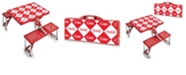 Picnic Time Oniva™ by Coca-Cola Red Checkered Print Portable Picnic Table