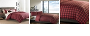 Eddie Bauer Mountain Plaid Scarlet Full/Queen Duvet Cover Set