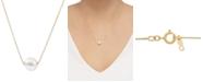 "Honora Cultured Freshwater Pearl (8-1/2mm) 18"" Pendant Necklace in 14k Gold (Also in Pink Cultured Freshwater Pearl)"