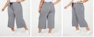 Calvin Klein Plus Size High-Waist Cropped Pants