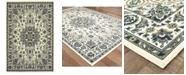 """Oriental Weavers Marina 1248W Ivory/Navy 3'7"""" x 5'6"""" Indoor/Outdoor Area Rug"""