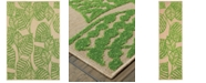 """Oriental Weavers Cayman 566F9 Sand/Green 7'10"""" x 10'10"""" Indoor/Outdoor Area Rug"""