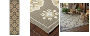 "Oriental Weavers Bali 5863N Gray/Gold 2'3"" x 7'6"" Indoor/Outdoor Runner Area Rug"