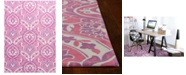 "Kas CLOSEOUT! Retreat Mackenzie 132 Pink 1'8"" x 2'7"" Runner Area Rug"