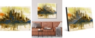 """Creative Gallery East River Abstract Cityscape 16"""" x 20"""" Acrylic Wall Art Print"""