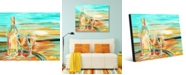 "Creative Gallery Vino Bianco Colorful Wine Abstract 24"" x 36"" Acrylic Wall Art Print"