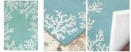 Liora Manne' Capri 1620 Coral Border 2' x 3' Indoor/Outdoor Area Rug