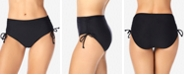 Swim Solutions Adjustable Ruched Brief Bottoms