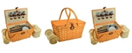 Picnic At Ascot Settler Traditional American Style Picnic Basket, Blanket for 4